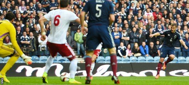 Scotland score against Georgia in October, 2014