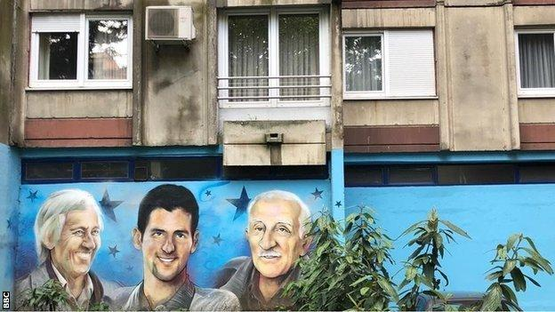 Novak Djokovic's childhood flat in Belgrade