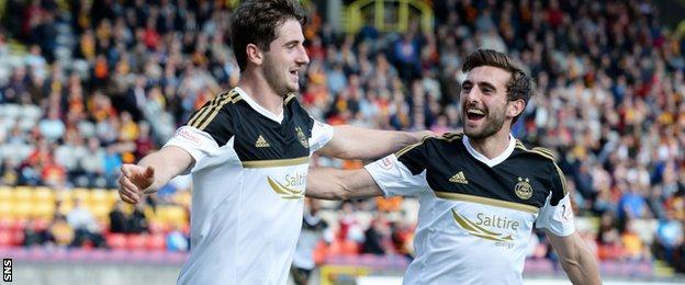 Kenny McLean (left) and Graeme Shinnie both made the move to Aberdeen this year