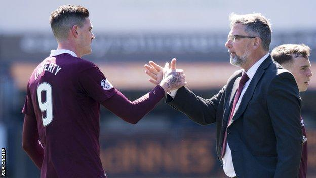 Hearts finished a disappointing Premiership campaign in sixth place