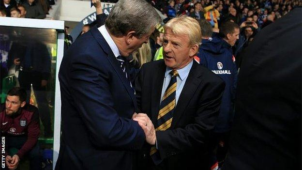 England manager Roy Hodgson and Scotland boss Gordon Strachan