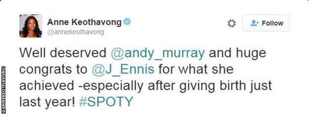 Anne Keothavong tweet snip