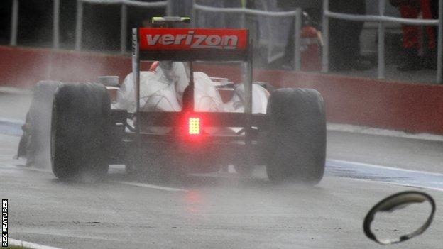 Jenson Button on his way to winning the 2011 Canadian GP