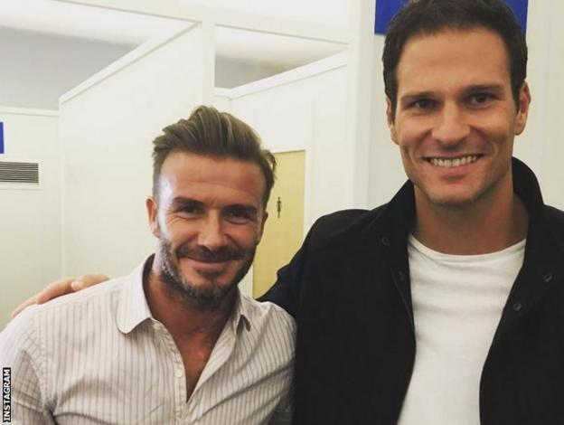 Asmir Begovic with David Beckham