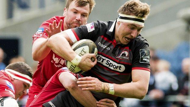 Jamie Ritchie carries the ball for Edinburgh