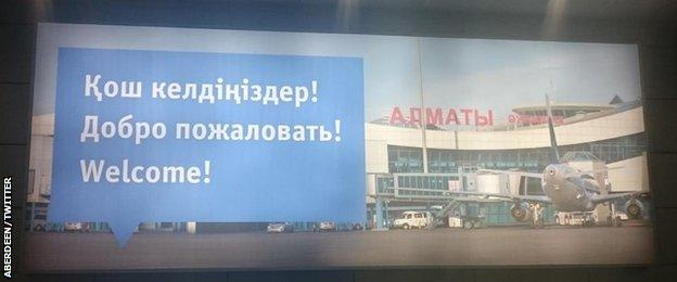 Aberdeen arrive in Almaty