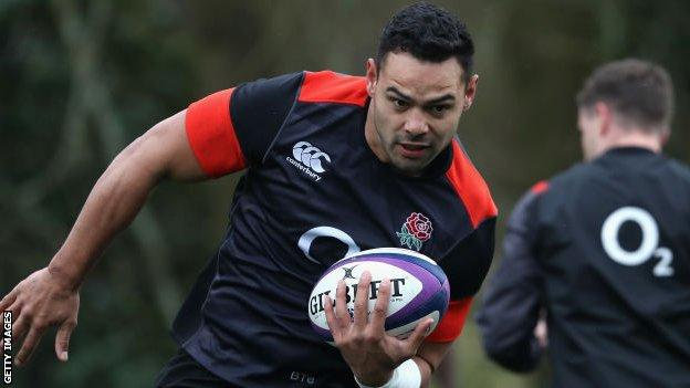 Ben Te'o pictured during England training