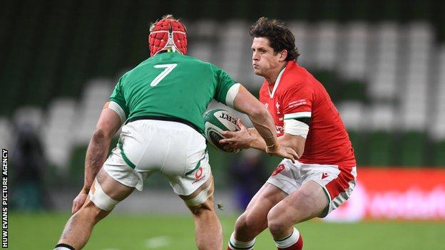 Lloyd Williams in action against Ireland when he won his 30th Wales cap