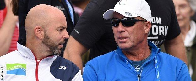 Ivan Lendl (right) and Jamie Delgado