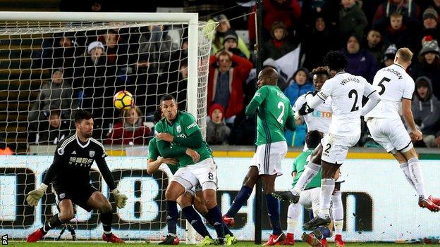 Bony's goal meant he scored in back-to-back league games for the first time since 2014