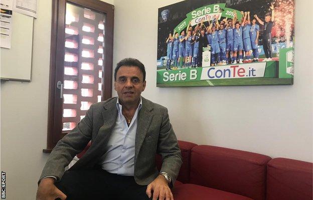 Empoli president Fabrizio Corsi