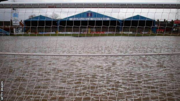 Brunton Park under water