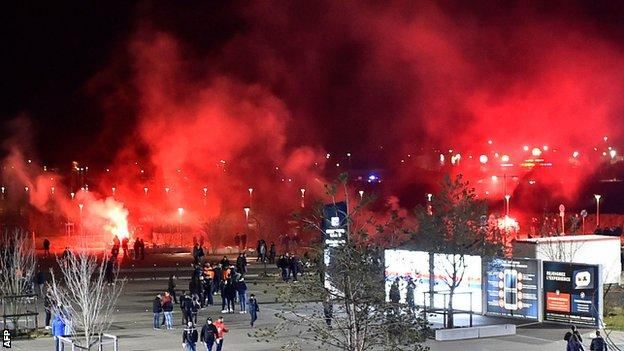 Lyon face European ban after Uefa charge while on suspended ban