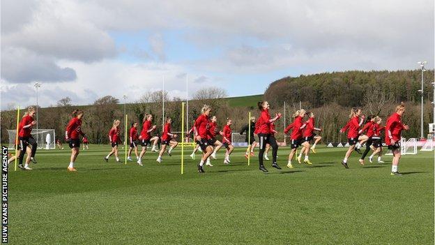 Wales training