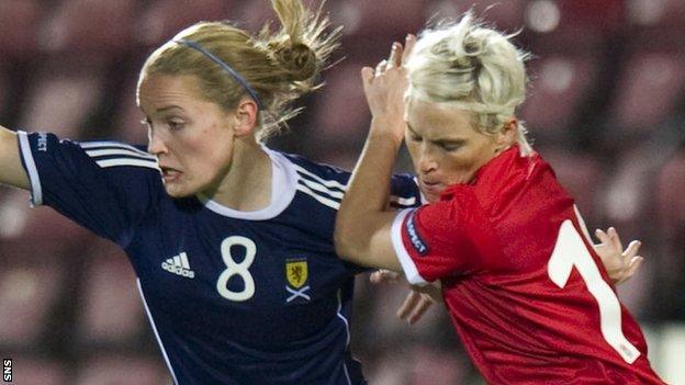Scotland's Kim Little and Wales' Jess Fishlock
