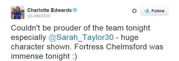 Charlotte Edwards on Twitter
