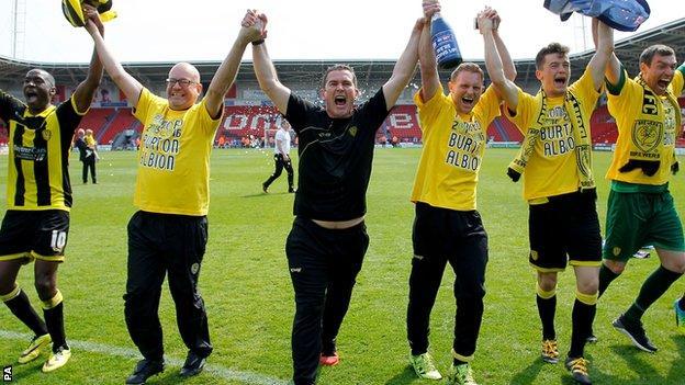 Burton Albion celebrate