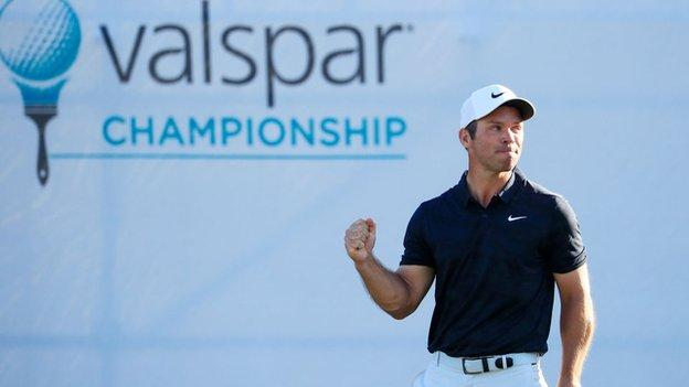 Paul Casey needed par on the final hole to retain the Valspar Championship