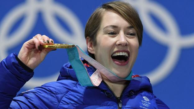 Winter Olympics: Lizzy Yarnold to consider skeleton future after retaining title