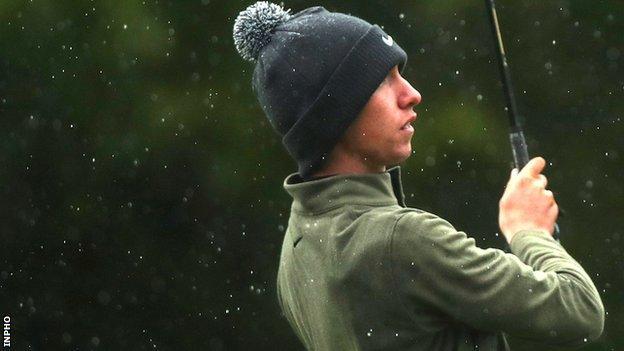 Tom McKibbin in action at last year's Irish Open at Galgorm Castle