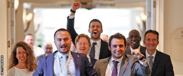 Kosmos sports group celebrate ITF decision