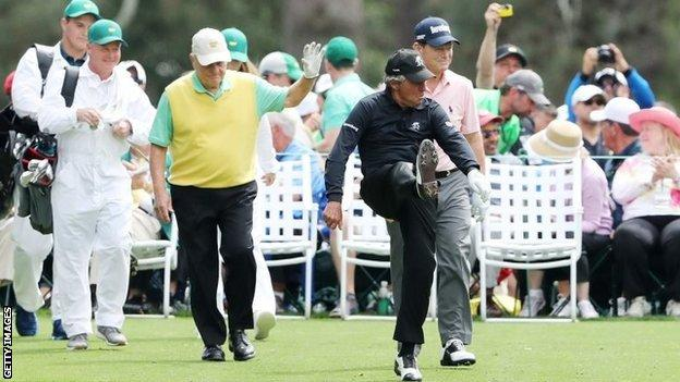 (l-r) Jack Nicklaus, Gary Player and Tom Watson
