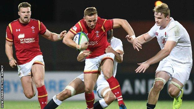 Wales' Ben Jones in action against England