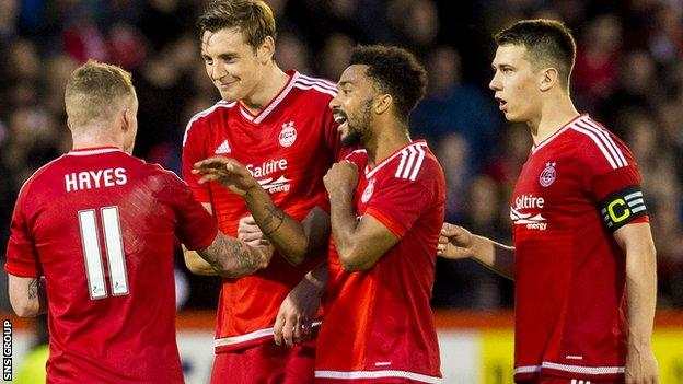 Aberdeen have won their first eight league games of the season