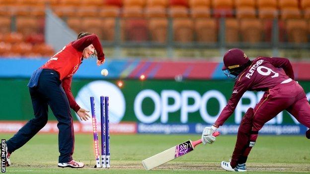 Mady Villiers runs out Afy Fletcher