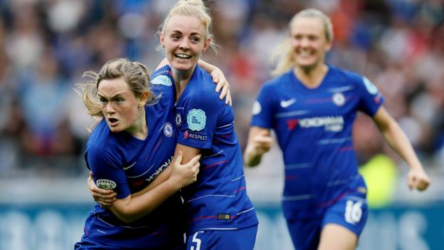 Women's Champions League: Lyon Feminines 2-1 Chelsea Women thumbnail