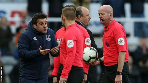 Silva approached referee Lee Mason and his assistants after defeat at Newcastle