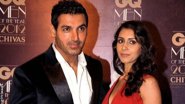 Bollywood actor John Abraham and his wife Priya Runchal