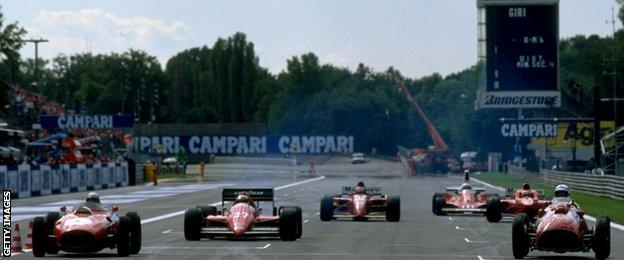 Ferraris at Monza in 1998