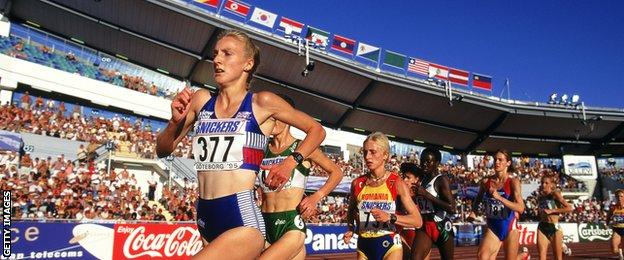 Paula Radcliffe competed at the 1995 World Championships