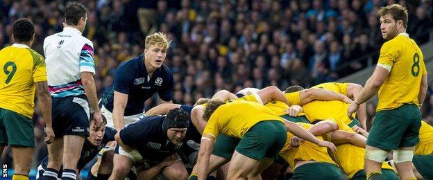 Scotland scrum against Australia