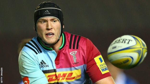 Kieran Treadwell has made six appearances for Harlequins