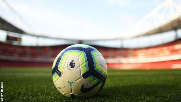 Premier League ball at Emirates Stadium