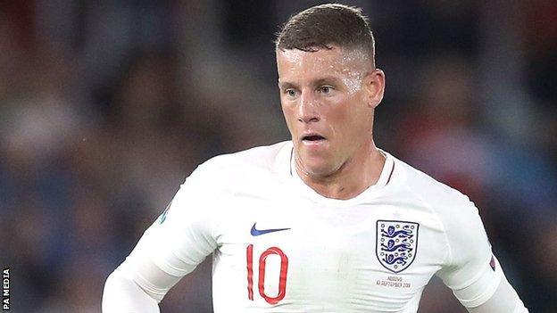 England and Chelsea midfielder Ross Barkley