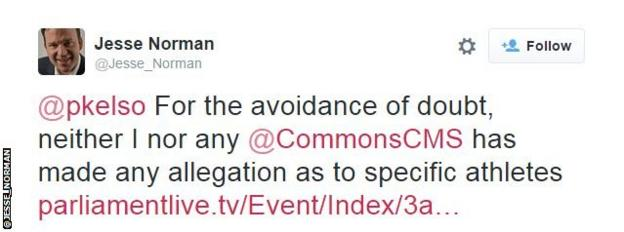 Jesse Norman tweet