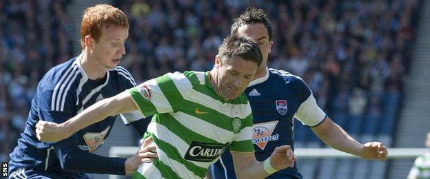 Scott Boyd and Robbie Keane