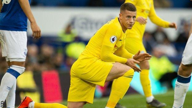 Ross Barkley made his first return to Everton since joining Chelsea in January 2018