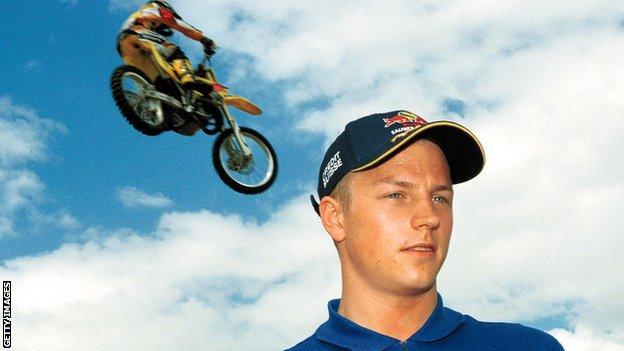 Kimi Raikkonen poses for Sauber before his first race in F1 at the Australian Grand Prix in 2001