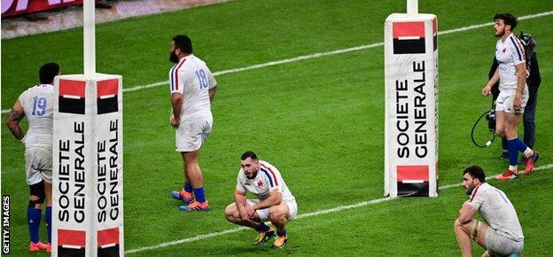 France look dejected