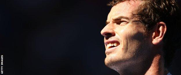 Dad-to-be Andy Murray at the Australian Open this week