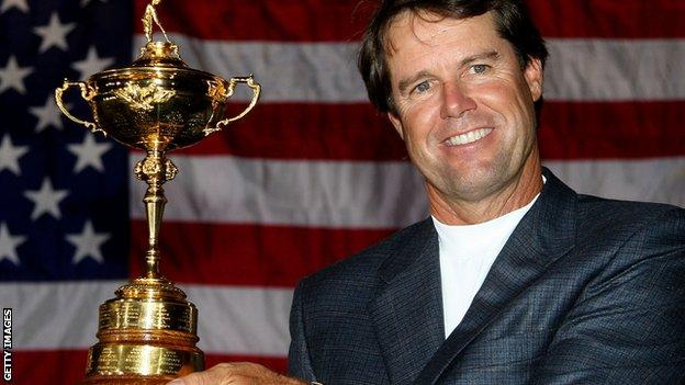 Paul Azinger with the Ryder Cup in 2008