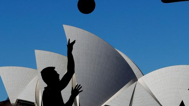 SYDNEY, AUSTRALIA - MAY 18: Vojtech Rudicky of Marienbad warms up during Sydney FIBA 3x3 World Challenger event hosted by the NBL held at the Overseas Passenger Terminal, Circular Quay on May 18, 2018 in Sydney, Australia. (Photo by Jason McCawley/Getty Images)