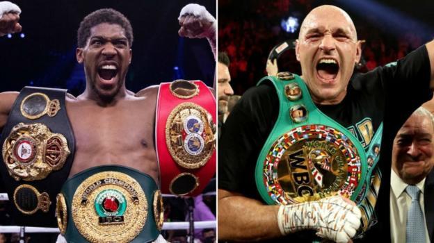 'Anthony Joshua v Tyson Fury a fight everyone wants' - Eddie Hearn thumbnail