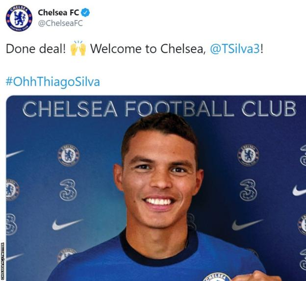 Brazil defender Silva signs one-year deal at Chelsea thumbnail