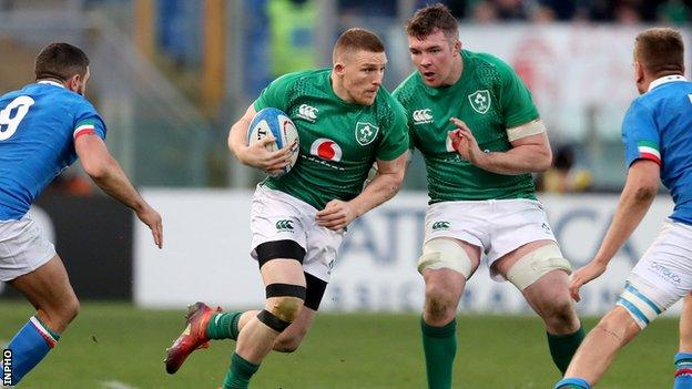 Munster pair Andrew Conway and Peter O'Mahony are among the Ireland players who will be taking pay cuts