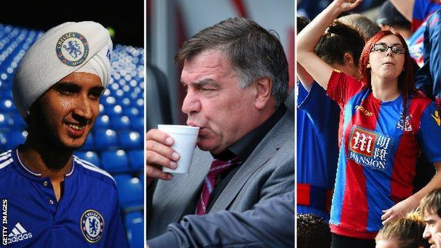 Chelsea, Crystal Palace fans and Sam Allardyce